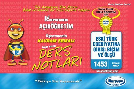 Karacan Eski Türk Edebiyatına Giriş Biç. Ve Ölçü - 1453