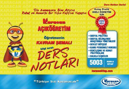 Karacan Kamu yönetimi 6 Ders Birleşik Kavram şemalı kitap - 5003