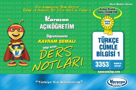 Karacan Türkçe Cümle Bilgisi 1 -3353