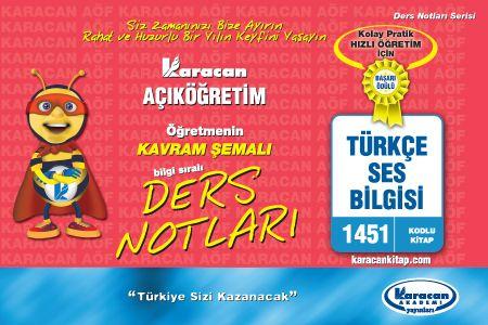 Karacan Türkçe Ses Bilgisi - 1451