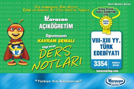 Karacan VIII - XIII yy.Türk Edebiyatı 3354