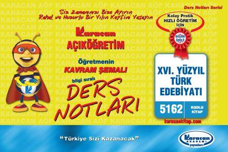 Karacan XVI. Yüzyıl Türk Edebiyatı - 5162