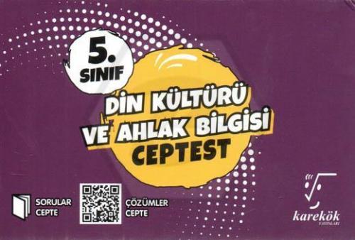 Karekök Yayınları 5.Sınıf Din Kültürü ve Ahlak Bilgisi Cep Test Komisy