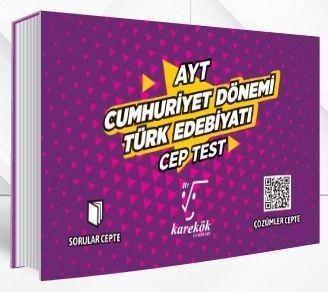 Karekök Yayınları AYT Cumhuriyet Dönemi Türk Edebiyatı Cep Test