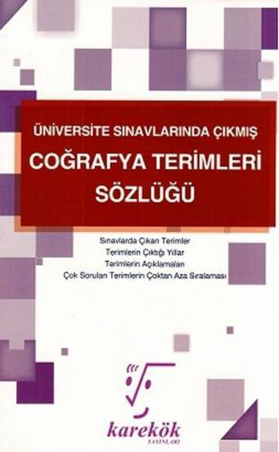 Karekök Yayınları Üniversite Sınavlarında Çıkmış Coğrafya Terimleri Sö