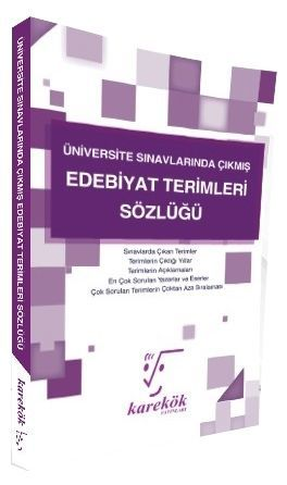 Karekök Yayınları Edebiyat Terimleri Sözlüğü Komisyon
