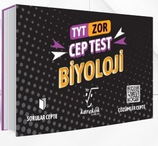 Karekök Yayınları TYT Biyoloji Zor Cep Test %40 indirimli Komisyon