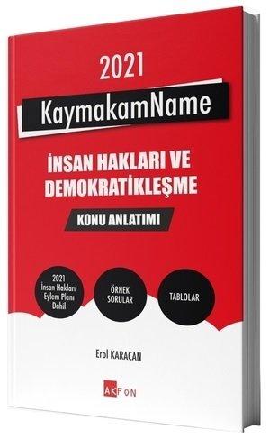 Akfon Yayınları 2021 Kaymakamlık KaymakamName İnsan Hakları ve Demokra