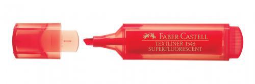 Faber-Castell Şeffaf Gövde Fosforlu Kalem Kırmızı