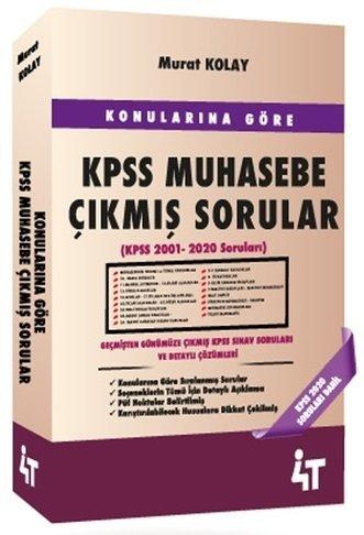 4T Yayınları KPSS A Grubu Muhasebe Konularına Göre Çıkmış Sorular Mura