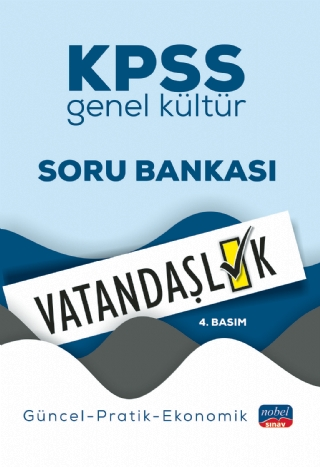 Nobel Yayınları 2020 KPSS Genel Kültür VATANDAŞLIK Soru Bankası /Lisan