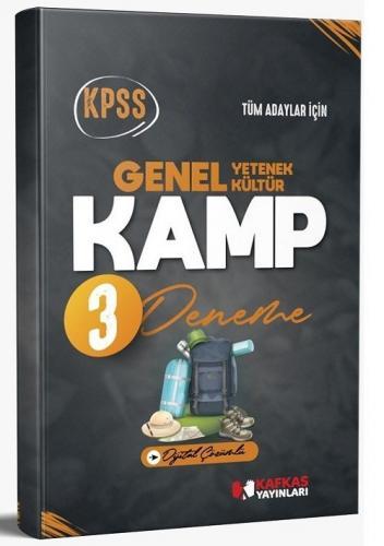 Kafkas Yayınları 2021 KPSS Genel Yetenek Genel Kültür KAMP 3 Deneme Di