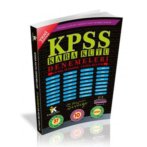 İnformal KPSS Karakutusu Genel Yetenek Genel Kültür 10 lu Çözümlü Deneme Sınavı 2019