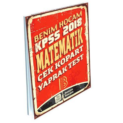 Kelepir Benim Hocam Yayınları KPSS Matematik Çek Kopart Yaprak Test