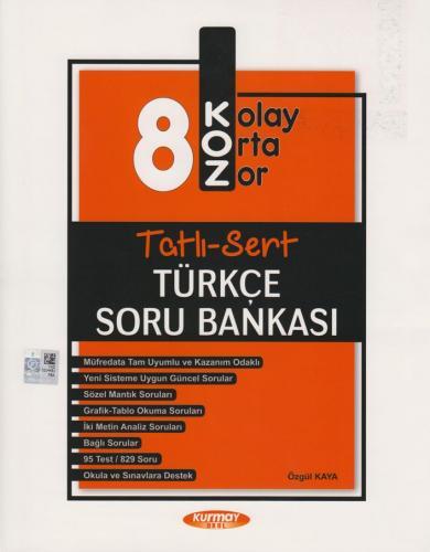 Kurmay Okul Yayınları 8. Sınıf Türkçe KOZ Tatlı Sert Soru Bankası Özgü