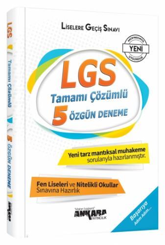 LGS Tamamı Çözümlü 5 Özgün Deneme - Ankara Yayıncılık