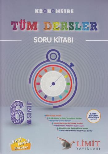 Limit Yayınları 6. Sınıf Tüm Dersler Kronometre Soru Kitabı %30 indiri