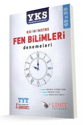 Limit YKS 1. Oturum TYT Kronometre Fen Bilimleri 40x20 Denemeleri %25