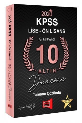 Yargı Yayınları 2020 KPSS Lise Ön Lisans 10 Altın Fasikül Fasikül Tamamı Çözümlü Deneme Sınavı