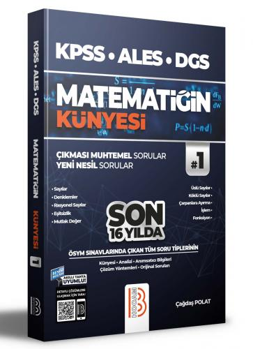 Benim Hocam Yayınları 2022 KPSS ALES DGS Matematiğin Künyesi Çağdaş Po