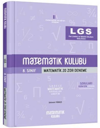 Matematik Kulübü 8. Sınıf LGS Matematik Zor 20 Deneme