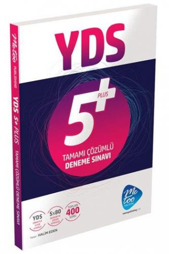 MeToo Publishing YDS Tamamı Çözümlü 5 Plus Deneme Sınavı