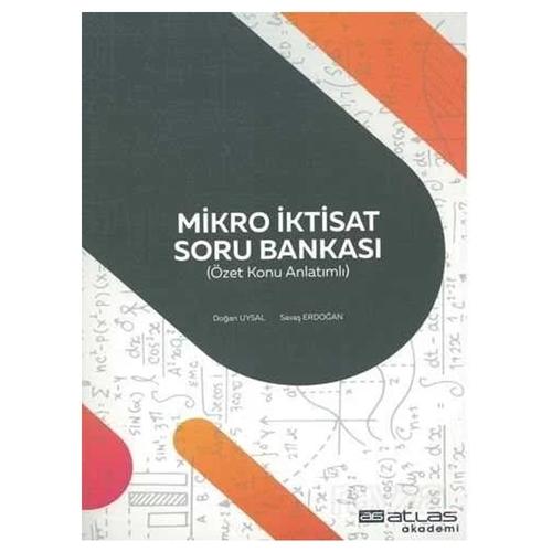 Mikro İktisat Soru Bankası Savaş Erdoğan