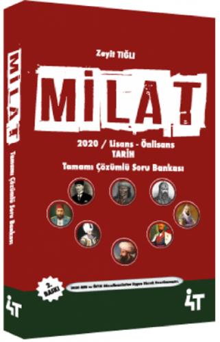 4T Yayınları 2020 KPSS MİLAT Tarih Soru Bankası Çözümlü
