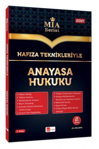 Akfon Yayınları Hafıza Teknikleriyle Anayasa Hukuku MİA Serisi Ali Arg