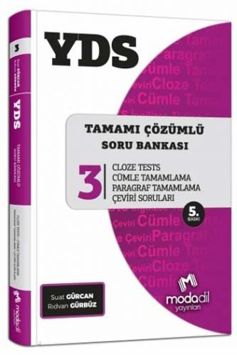 Modadil YDS Tamamı Çözümlü Soru Bankası Serisi 3 Cloze Tests