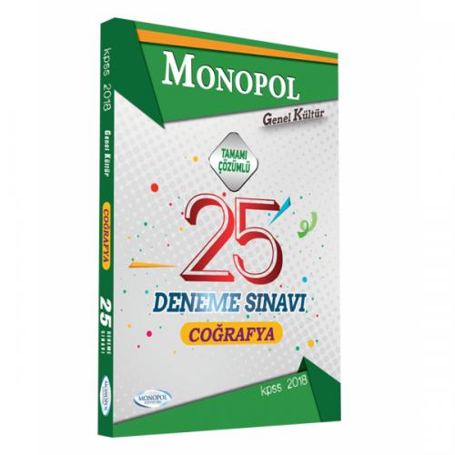Monopol KPSS Coğrafya Tamamı Çözümlü 25 Deneme 2018