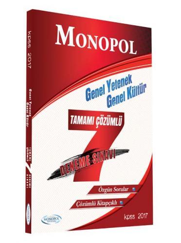 Monopol KPSS Genel Yetenek Genel Kültür Tamamı Çözümlü 7 Deneme