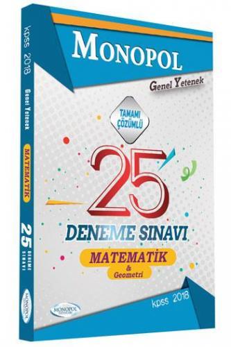 Monopol KPSS Matematik Geometri Tamamı Çözümlü 25 Deneme 2018