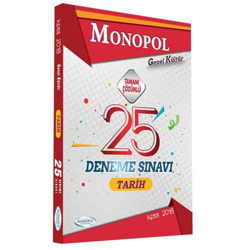 Monopol KPSS Tarih Tamamı Çözümlü 25 Deneme 2018