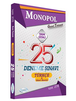 Monopol KPSS Türkçe Tamamı Çözümlü 25 Deneme 2018