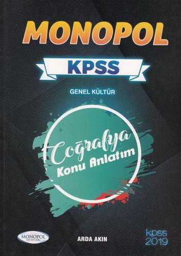 Monopol KPSS Genel Kültür Coğrafya Konu Anlatım 2019