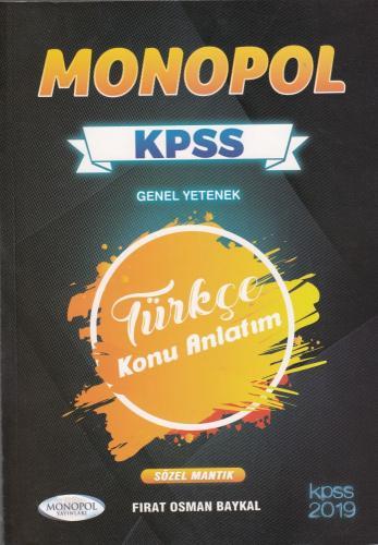 Monopol KPSS Genel Yetenek Türkçe Konu Anlatım 2019