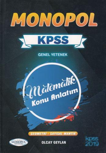 Monopol KPSS Genel Yetenek Matematik Konu Anlatım 2019