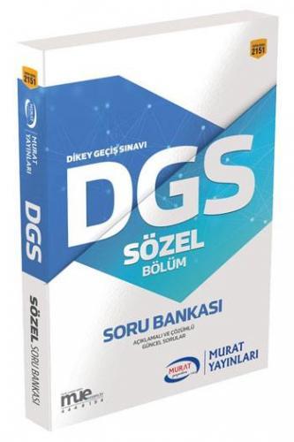 Murat Eğitim DGS Sözel Bölüm Soru Bankası 2151