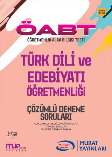 Murat Eğitim KPSS ÖABT Türk Dili ve Edebiyatı Öğretmenliği Çözümlü Deneme Soruları 1183