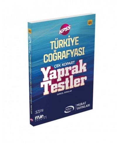 Murat Eğitim KPSS Türkiye Coğrafyası Çek Kopart Yaprak Testler 2018 -