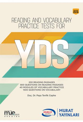 Murat Eğitim Reading and Vocabulary Practice Tests for YDS 2516