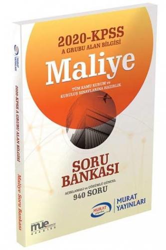 Murat Yayınları 2020 KPSS A Grubu Maliye Açıklamalı ve Çözümlü Soru Ba