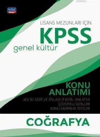 Nobel Yayınları 2020 KPSS Lisans Coğrafya Genel Kültür Konu Anlatımı