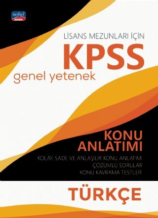 Nobel Yayınları 2020 KPSS Lisans Türkçe Genel Yetenek Konu Anlatımı