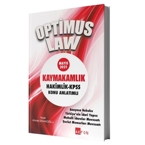 Akfon Yayınları 2021 Optimus Law Kaymakamlık Hakimlik KPSS Konu Anlatı