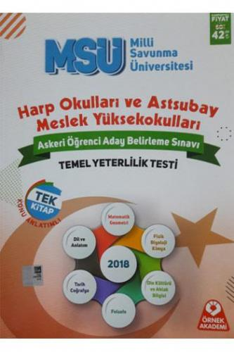 Örnek Akademi MSÜ Harp Okulları ve Astsubay Askeri Öğrenci Belirleme Sınavı Konu Anlatımlı Tek Kitap