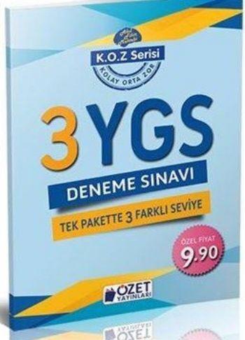 Özet K.O.Z. Serisi YGS 3 Deneme Sınavı