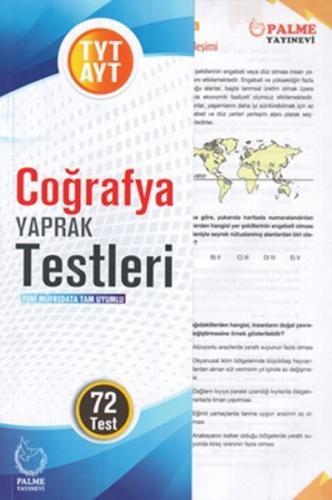 Palme Yayınları TYT AYT Coğrafya Yaprak Test