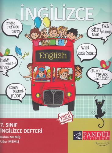 Pandül Yayınları 7. Sınıf İngilizce Defteri
